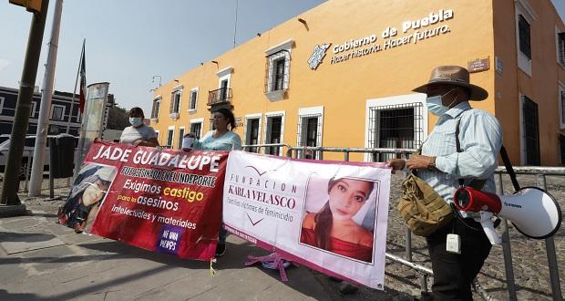 Llega a Puebla caravana de madres víctimas de feminicidio de Chiapas