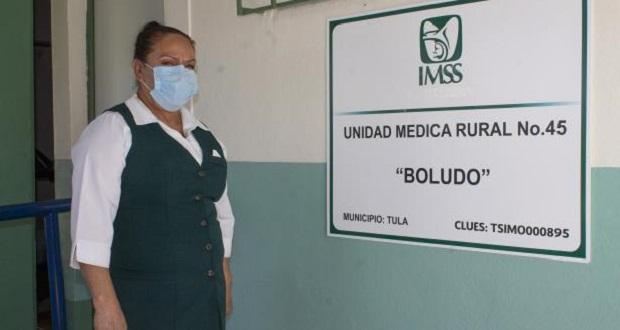 Luisa, enfermera del IMSS, lleva servicios a poblados en Tamaulipas