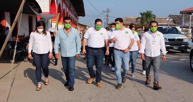 Natale inaugura oficinas del Partido Verde en municipios poblanos