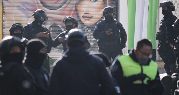 Policía municipal retuvo a locatarios del mercado de Amalucan: Segob