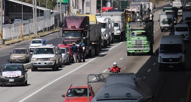 Protesta nacional de la Amotac causa afectaciones en la México-Puebla