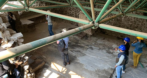 Cae techumbre en Templo Mayor por granizada; evalúan daños