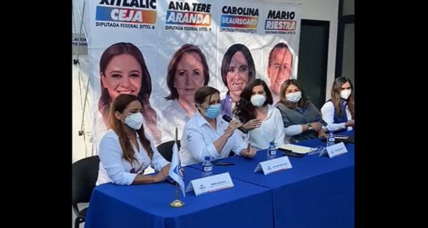 Candidatas de Va por México firman compromisos por mujeres