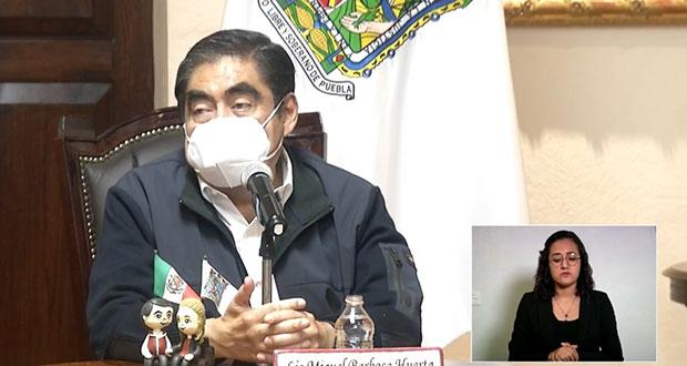 Con nuevo decreto, si se puede asumir control de seguridad en Puebla: Barbosa
