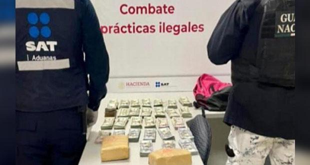 Decomisan en dólares equivalente a 3.9 mdp en aduana de Tijuana