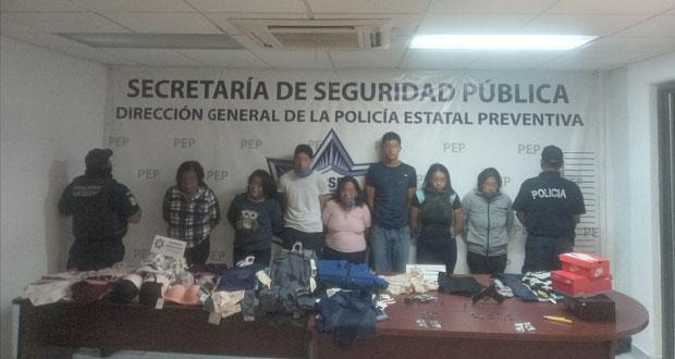 Detienen a 7 por asalto a Coppel en San Martín Texmelucan