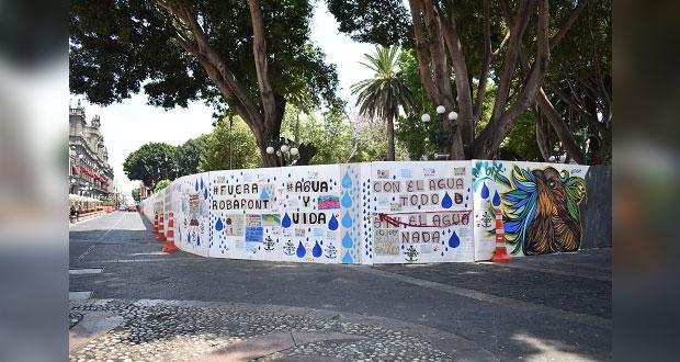 Detienen obras en zócalo de Puebla a cargo de Sedatu y ayuntamiento