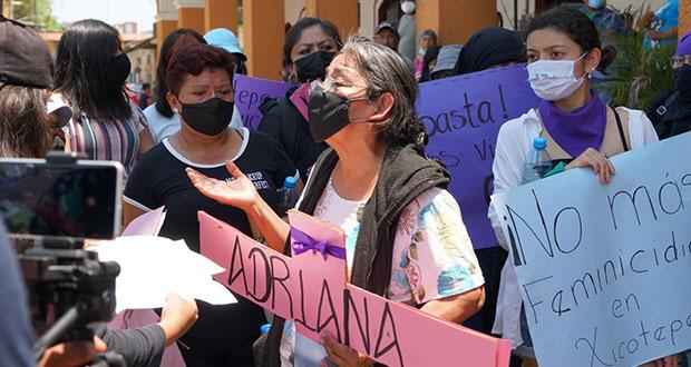 Exigen justicia para Adríana, víctima de feminicidio en Xicotepec