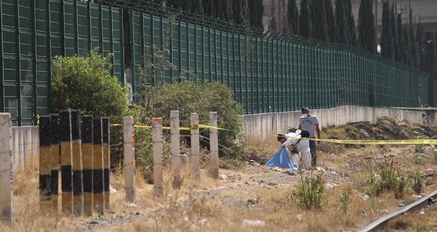 Hallan cuerpo de bebé junto a vías del tren, entre Puebla y Amozoc