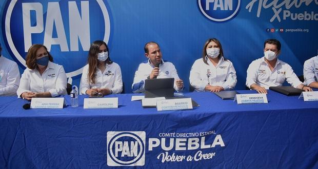 """Marko Cortés respalda a candidatos de Va por Puebla, serán """"contrapeso"""", dice"""