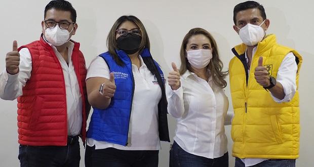 PAN-PRI-PRD respalda a Paola Angon por alcaldía de San Pedro Cholula