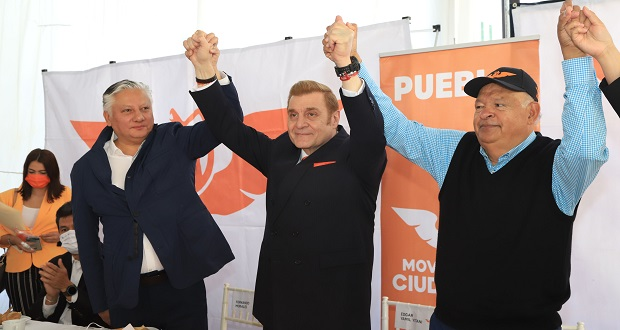 Presentan a Edgar Yamil como candidato de MC a la alcaldía de Puebla