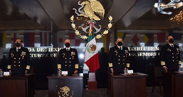 Reaparece Ojeda en entrega de subsecretaría a almirante poblano