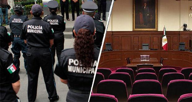 SCJN deja a ayuntamiento de Puebla control de mando de la policía municipal