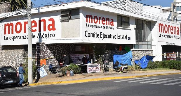 Sede de Morena lleva un mes tomada por opositores; ¿qué ha pasado?