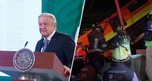 AMLO decreta 3 días de duelo nacional por caída del Metro en CDMX