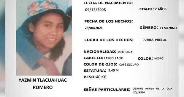 Activan Alerta Amber para localizar a Yazmín Tlacuahuac de 12 años