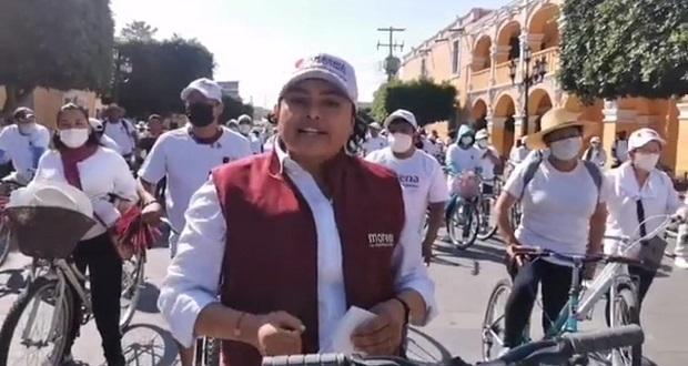 Consolidar proyecto, resalta Karina Pérez al iniciar campaña