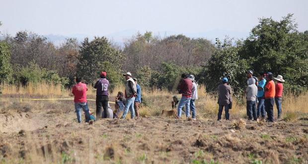 Hallan cadáver en cultivo de San Miguel Canoa; van 30 en la entidad