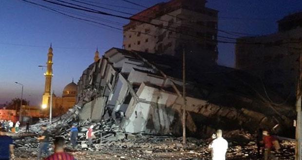 Israel destruye edificio en la Franja de Gaza tras ataque aéreo