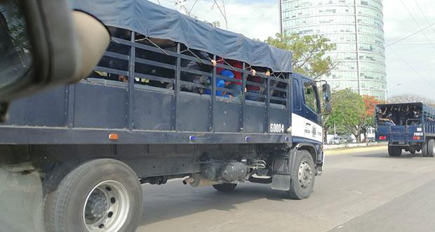 Policías de Chiapas disuelve manifestaciones de normalistas; 95, detenidos