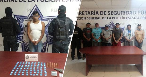 SSP realiza seis detenciones en Cholula y Atlixco