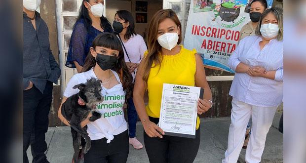 Xitlalic Ceja se compromete a gestionar agenda animalista