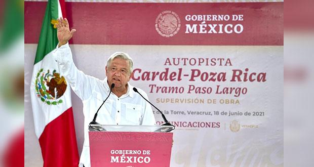AMLO apoya acuerdo para terminar autopista Cardel-Poza Rica