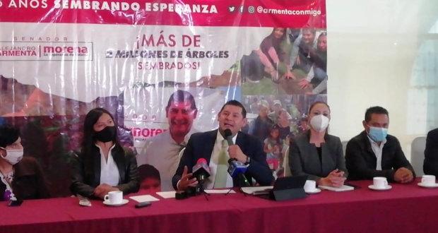 """Puebla """"dio una lección"""" a Morena en las elecciones: Armenta"""