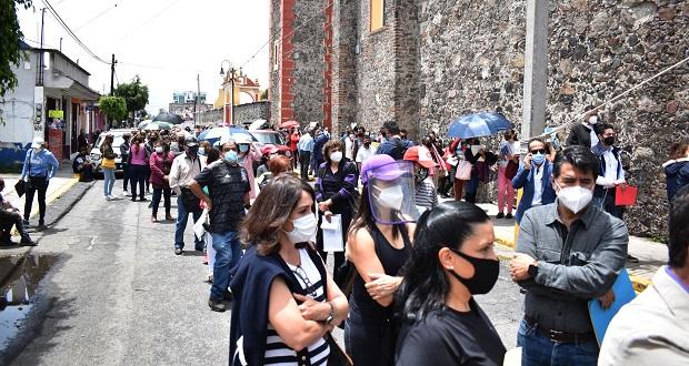 Aplicación de primera y segunda dosis contra Covid genera caos en 3 municipios