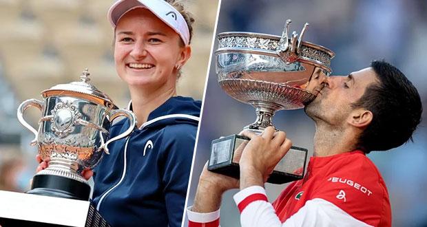 Barbora Krejčíková y Novak Djokovic conquistan Roland Garros 2021