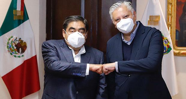 Barbosa se reúne con Fernando Morales, líder de MC en Puebla