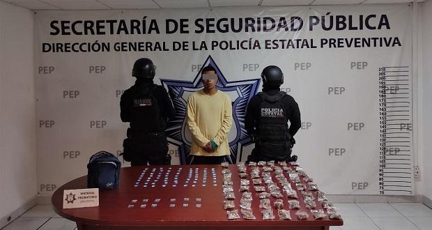 """Cae narcomenudista de """"Los Angelinos 13"""" en colonia de Atlixco"""