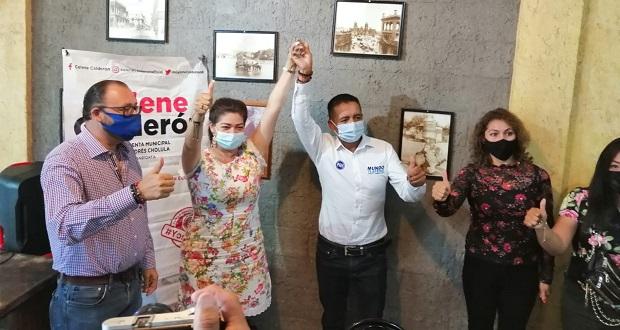 Celene Calderón del PSI se suma a Tlatehui en San Andrés Cholula