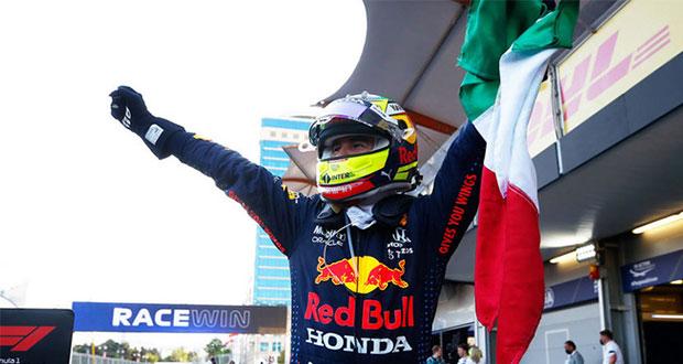 """Checo"" Pérez gana el Gran Premio de Azerbaiyán!"