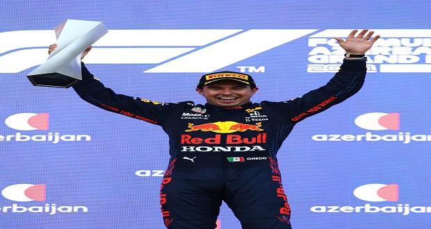 """""""Checo"""" Pérez gana Premio de Azerbaiyán de Fórmula 1"""