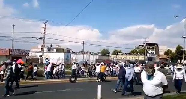 Cierran la México-Puebla por reelección de Alvarado en Huejotzingo
