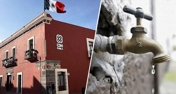 Ciudad Serdán deja sin agua a 2 fraccionamientos; CDH pide dar servicio