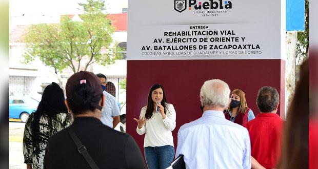 Comuna entrega rehabilitación vial en colonias con inversión de 7.6 mdp