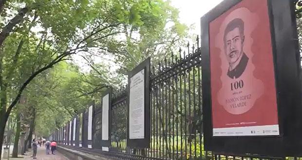 Con galería en Chapultepec, conmemoran a poeta López Velarde