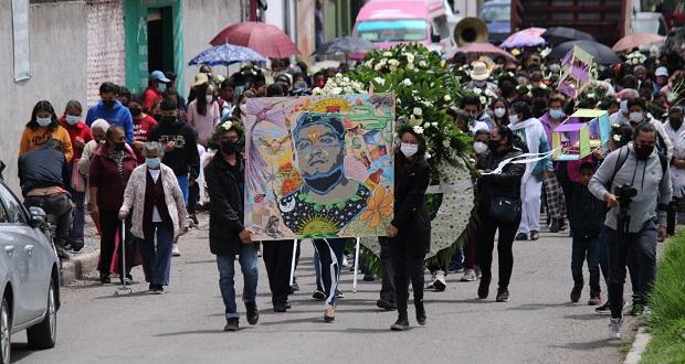 Despiden a Carlos Portillo en Xoxtla, víctima de abuso policial