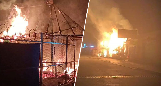 En Atlixco, queman dos bares; dueños acusan a grupos delictivos