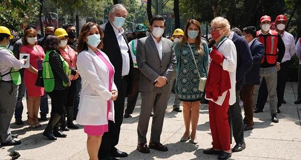En CDMX, 701 trabajadores del IMSS participan en simulacro nacional
