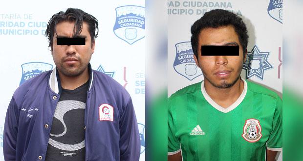 En un día, detienen a tres sujetos por robo a transeúnte en Puebla