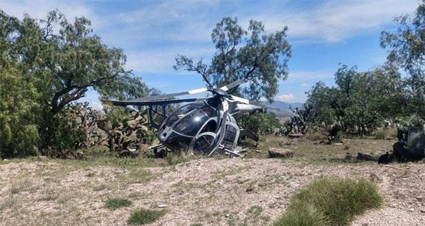 Helicóptero de Fuerza Aérea sufre aterrizaje forzoso en Edomex