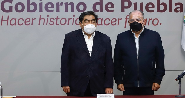 José Luis Márquez, alcalde electo de Zacatlán, se reúne con Barbosa