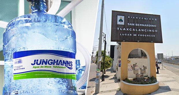 Junghanns hostiga a vecinos de Tlaxcalancingo; Comuna omisa, acusan