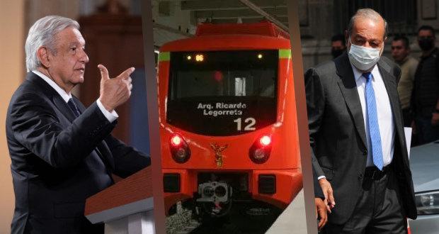 Hay voluntad de Carlos Slim para rehabilitar línea 12 del Metro: AMLO