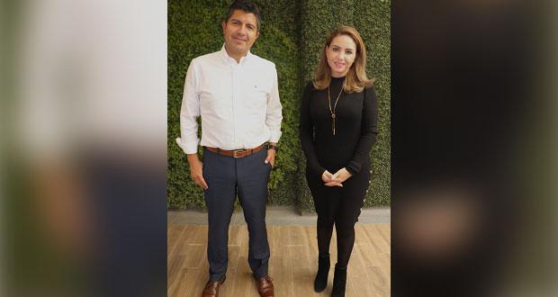 Mejorar seguridad, acuerdan Paola Angon y Eduardo Rivera en reunión