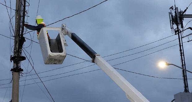 Modernización de alumbrado público genera ahorro de 8.6% en energía